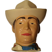 Vintage Roy Rogers Plastic Handled Cup-1950's