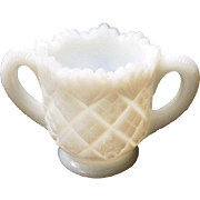 Vintage Milk Glass Toothpick Holder Double Handled
