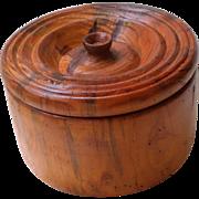 Vintage Wooden Tureen Bowl or Keepsake Box -Hand Turned-1950's