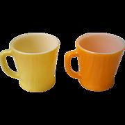 Fire King Coffee Cup Set-Yellow & Orange -1950's
