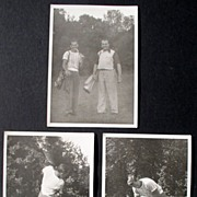 """Golf Photos (3) From 1940's 5"""" x 7"""" Black & White"""