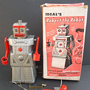 """Robot 1955 """"Robert the Robot"""" Ideal Toys Working with Box"""