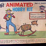 "Rube Goldberg ""Back Scrubber & Hat Remover"" 1965 Plastic Model Kit"