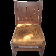 1915 LJG STICKLEY 821 Mission Oak-Sewing/Nursing Rocking Chair