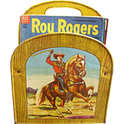 Roy Rogers 1950's Tin Comic Book Corral with 25 vintage Comic Books