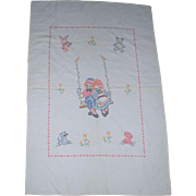 Vintage 1930s/40s Handmade Child's Raggedy Ann n Andy Quilt