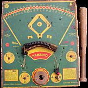 "1933 ""Bambino"" Babe Ruth Baseball Tin Game from 1933 Chicago Worlds Fair"