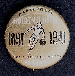 Basketball 1941 Golden Jubilee Pinback Button