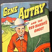 """Gene Autry """"Red Bandit's Ghost"""" 1949 Big Little Book Colorful!"""