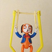 Vintage Swinger Trapeze Toy Googly Eye Dog