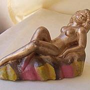 SALE 1940's Signed Rosemead Nude Chalk Figurine