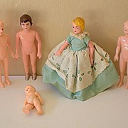 SALE (6) Vintage Plastic Dolls May Be Sewing Models