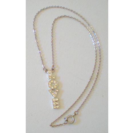 "Child's Necklace ""LOVE"" Pendant"