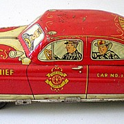 LARGE Size Marx Tin Fire Chief's Friction Car