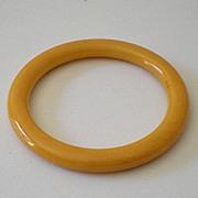 Vintage Bakelite Bracelet Marbled Yellow