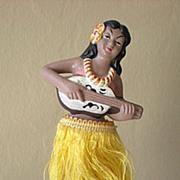 SALE Vintage 1950's Hawaiian Hula Girl Nodder Bobber