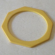 SALE Golden Butterscotch Octagon BAKELITE Spacer Bracelet
