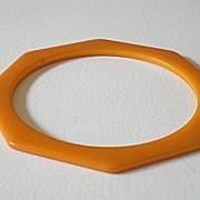 Rich Butterscotch Octagon Cut Bakelite Bracelet