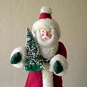 Santa Claus Christmas Tree Topper Folk Art
