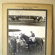 SALE LARGE 1946 Race Horse Photo Buzfuz In Winner's Circle