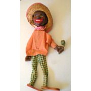 SALE Fabulous Old Black Americana Marionette Puppet