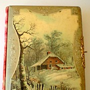 Gorgeous Embossed Celluloid and Velvet Victorian Photo Album