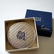 Vintage Lanchere Powder Compact In Original Box