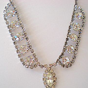 SALE GORGEOUS Vintage Fancy Rhinestone Necklace