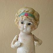 1920's Bisque Doll 4&1/2 Inch Cutie Pie