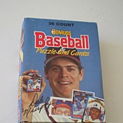 1988 Donruss Wax Box Baseball Cards