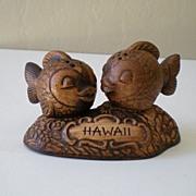 Vintage 3 Piece Treasure Craft Salt & Pepper Set Hawaii