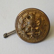 Old Brass Military Button