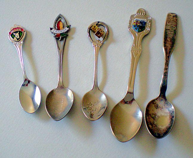 Group of (5) Vintage Souvenir Spoons