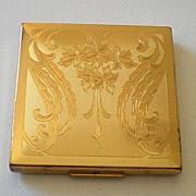 Vintage Elgin American Goldtone Powder Compact