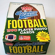 Premier Edition 1990 Fleer Football  Wax Box 36 SEALED Packs