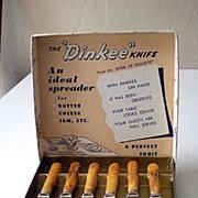 Vintage 1940's Knife Set In Box BAKELITE Handles