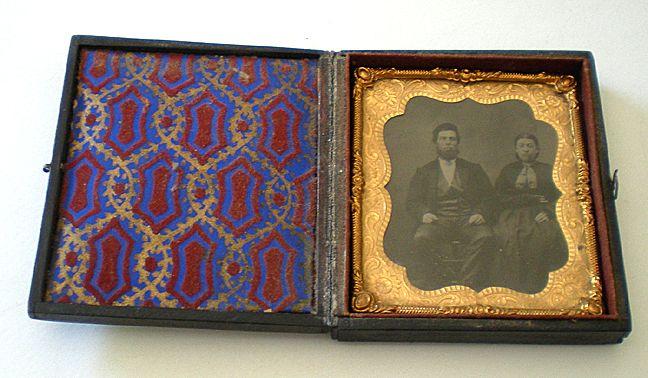 Antique 1850's Tin Type Photo in Beautiful Case