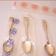 (3) International Silver Company Triple Plate Spoons