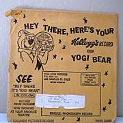 Vintage Kellogg Promotion Yogi Bear Record Hanna Barbera 1960's