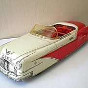 HUGE Vintage 1950's  MARX Tin Car Sportster Convertible