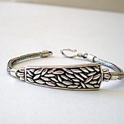 Nice Sterling Silver Snake Link Bracelet