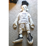 SALE GIANT 1980's Fido Dido Rag  Doll Retailers Display