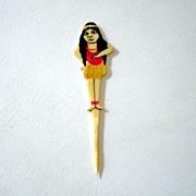 1920's Hawaiian Hula Girl Celluloid Pick *RARE*
