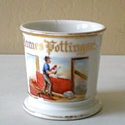 "Rare Antique Occupational Shaving Mug Marked ""GDA France"""