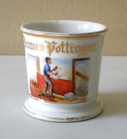 "Rare Antique Occupational Shaving Mug Marked ""GDA France"""