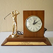 1963 Golf Trophy and Clock Union Oil