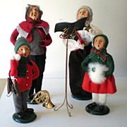 "(4) Byers Choice Christmas Figurines ""The Carolers"""