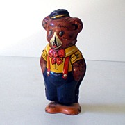 Vintage Key Wind Tin Lithograph Walking Bear J Chein Co.