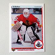 SOLD 1990 Upper Deck Ed Belfour Rookie Card Chicago Blackhawks