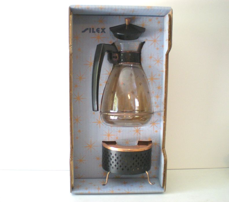 "Retro Silex ""Starlight"" Coffee Service Carafe &  Warmer NRFB"